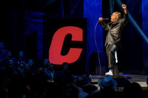 """Dave Chappelle performs on stage during his Netflix comedy special """"The Closer"""" that was released on Oct. 5. Columnist Nathaniel Langley argues that Chappelle shames the LGBTQ community as a cheap joke."""